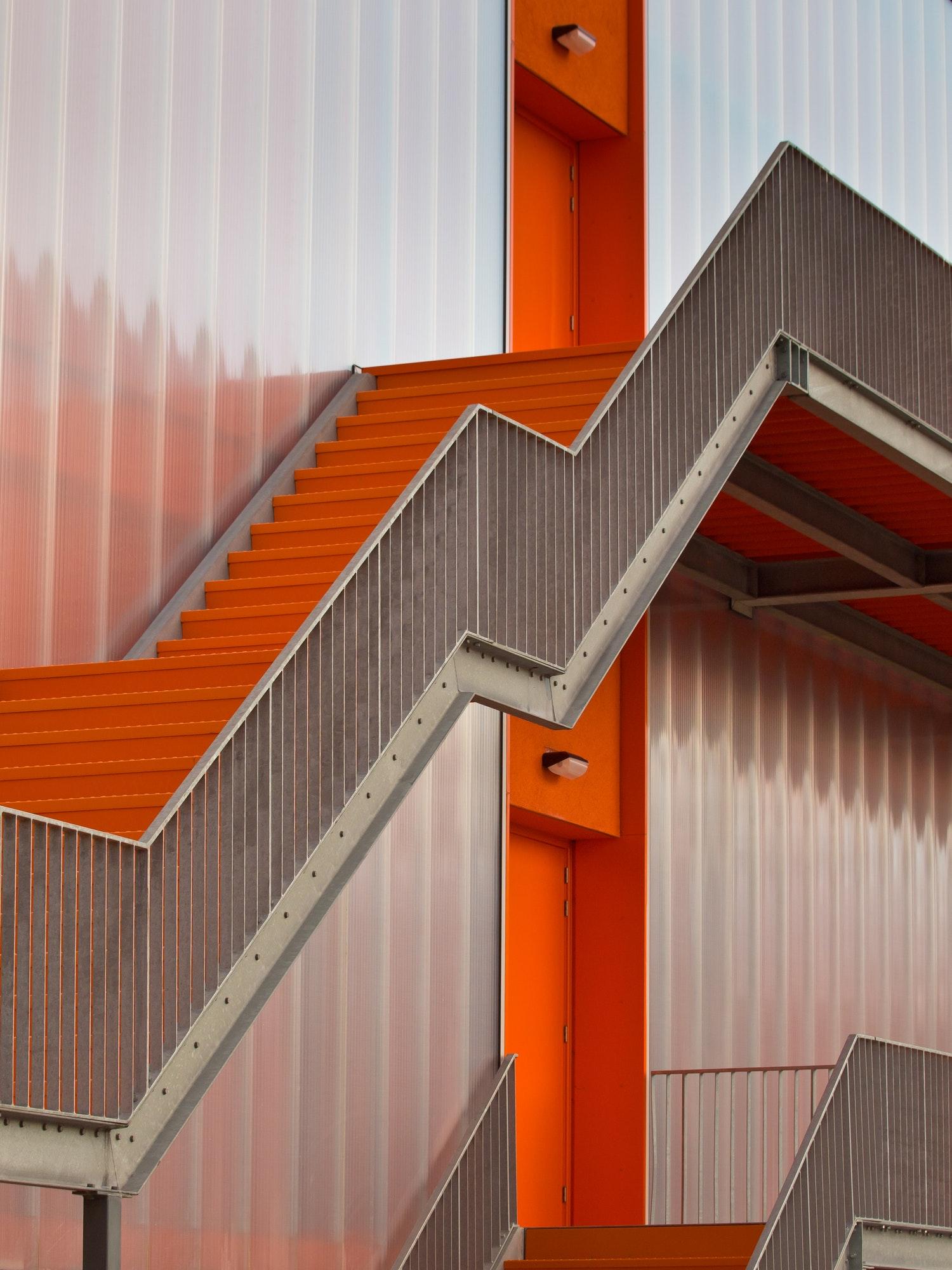 Orange escape stairs